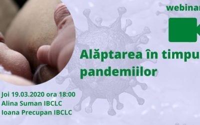 Alăptarea în timpul pandemiilor – 19 martie 2020