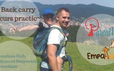 Back-carry! Purtarea bebelușilor în spate