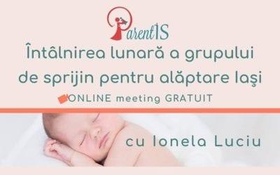 Grup de sprijin pentru alăptare, online – 30 aprilie 2020
